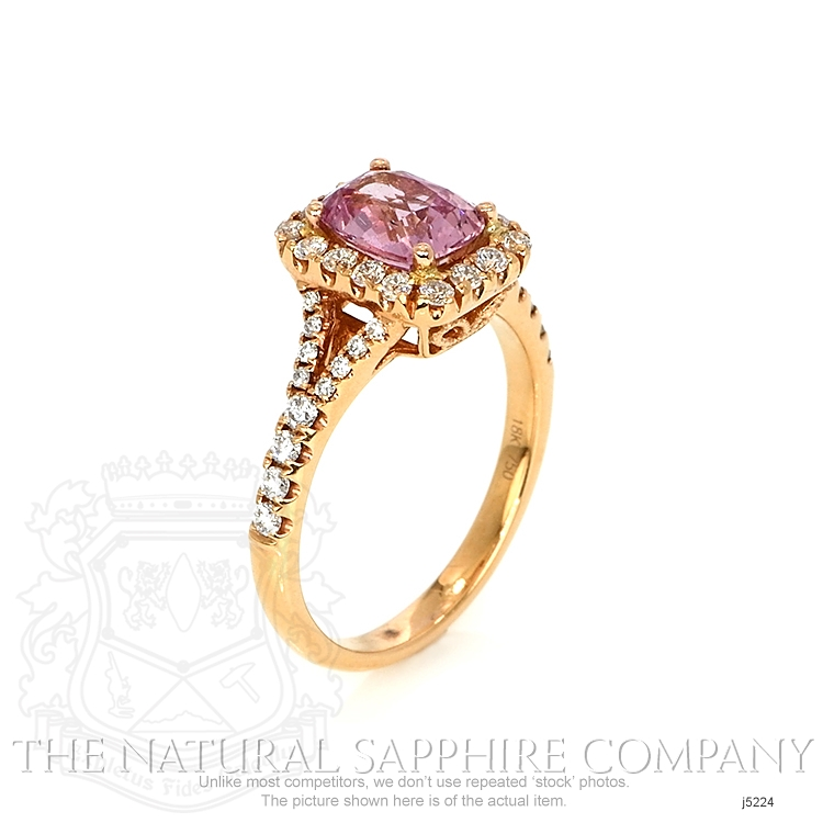 1.78ct Pink Sapphire Ring Image 2