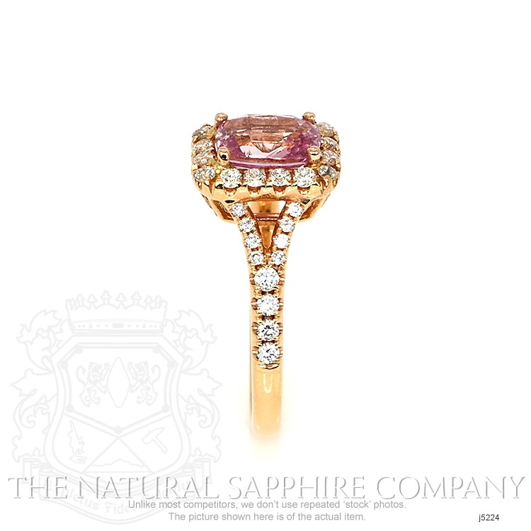 1.78ct Pink Sapphire Ring Image 3