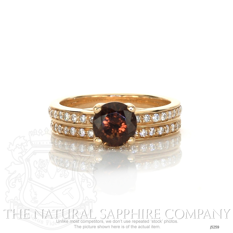 1.49ct Orangish Brown Sapphire Ring Image
