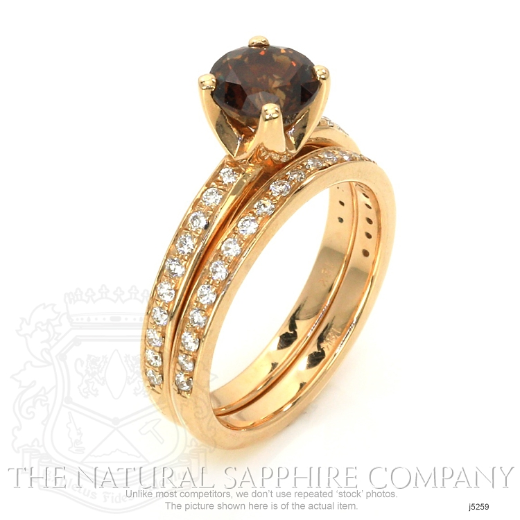 1.49ct Orangish Brown Sapphire Ring Image 2