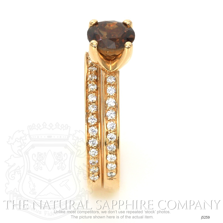 1.49ct Orangish Brown Sapphire Ring Image 3