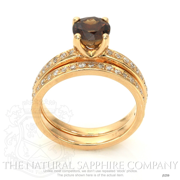 1.49ct Orangish Brown Sapphire Ring Image 4