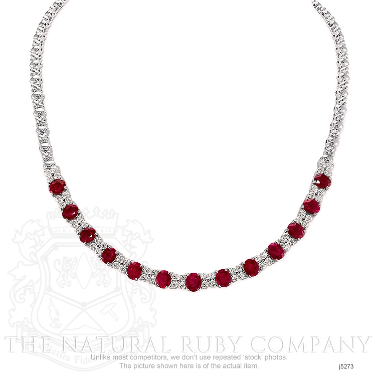 10.72ct Ruby Necklace Image 2