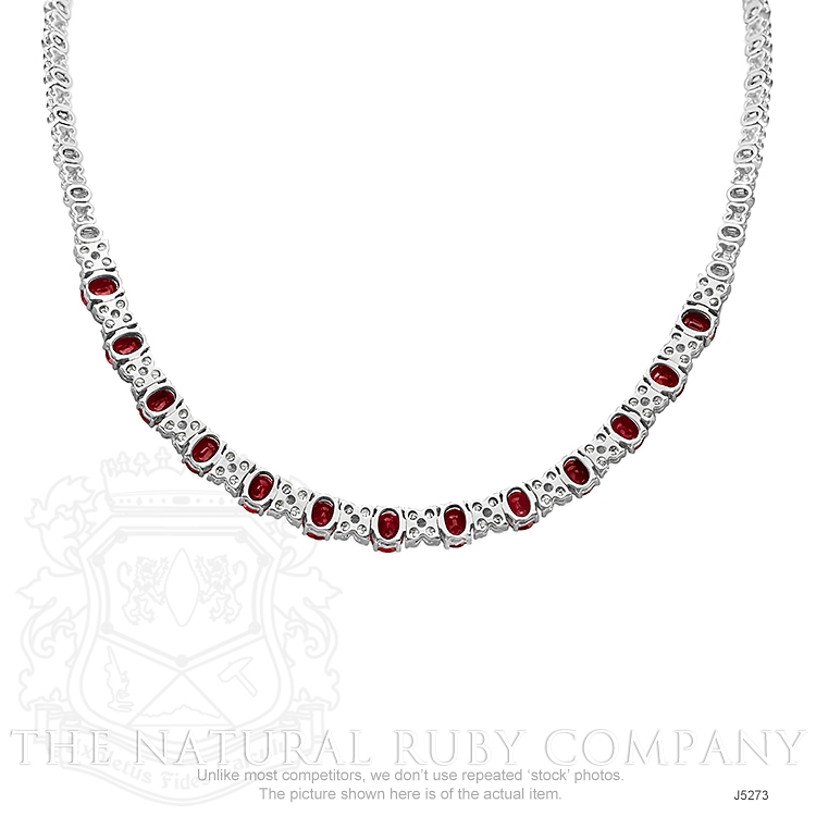 10.72ct Ruby Necklace Image 4