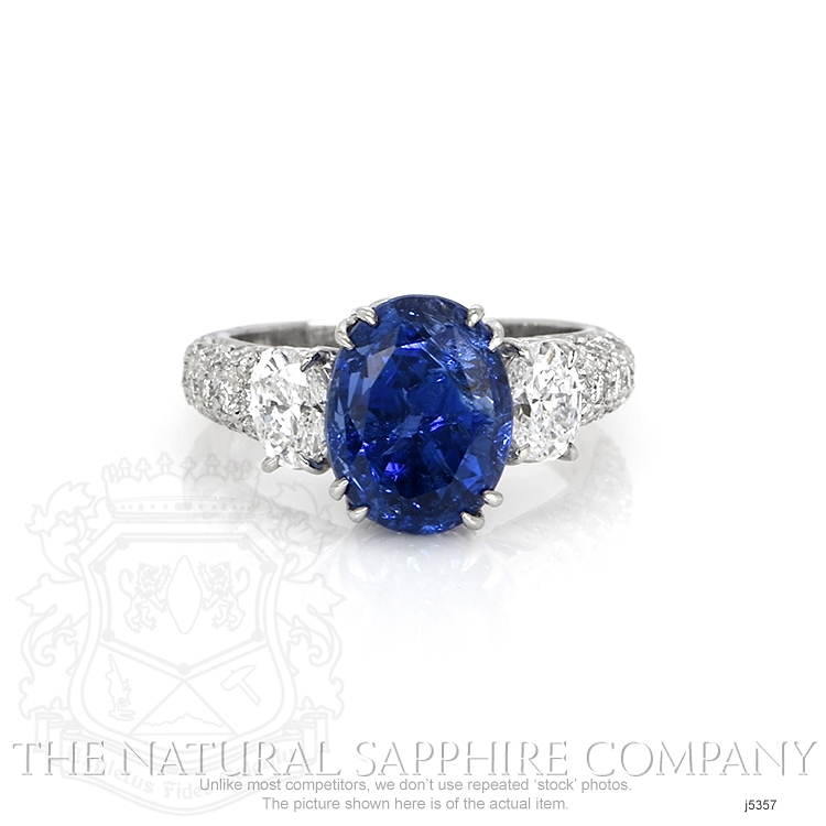 6.78ct Blue Sapphire Ring Image