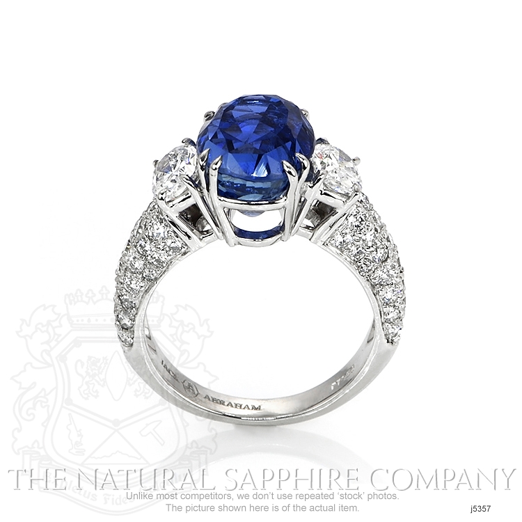 6.78ct Blue Sapphire Ring Image 4