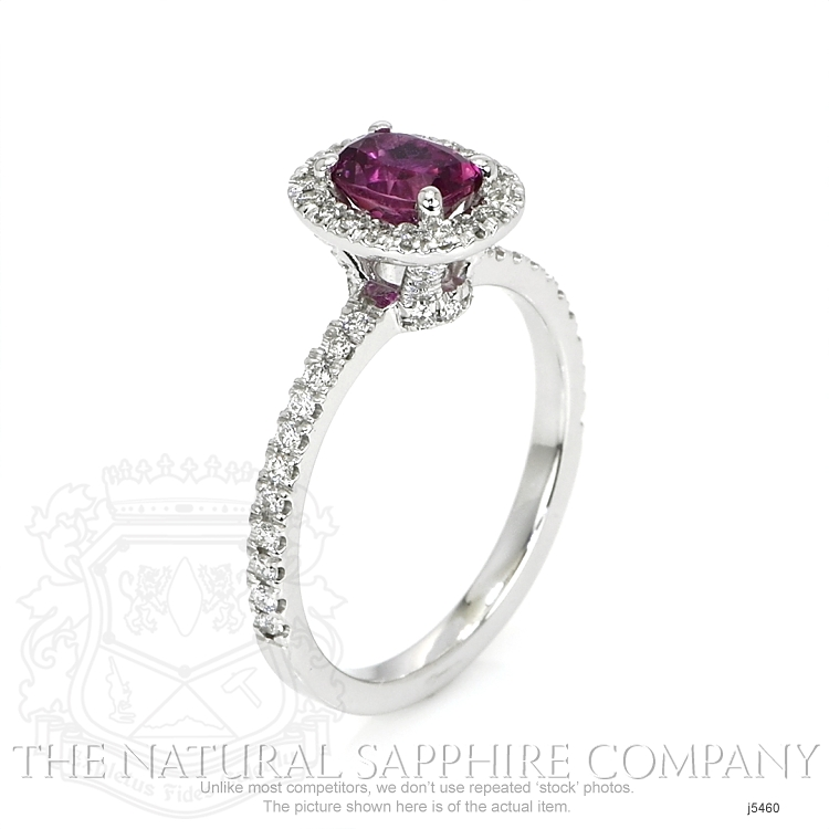 0.95ct Pink Sapphire Ring Image 2