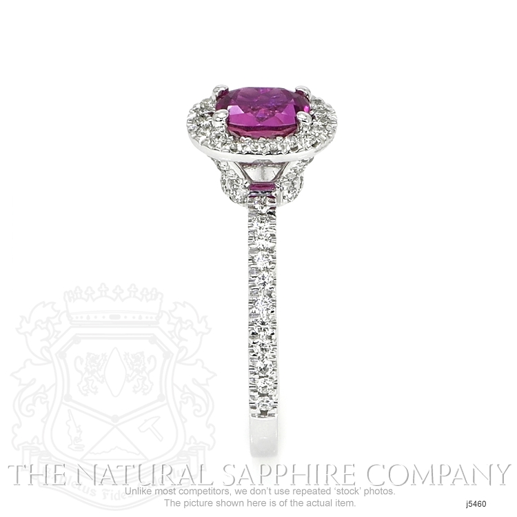 0.95ct Pink Sapphire Ring Image 3