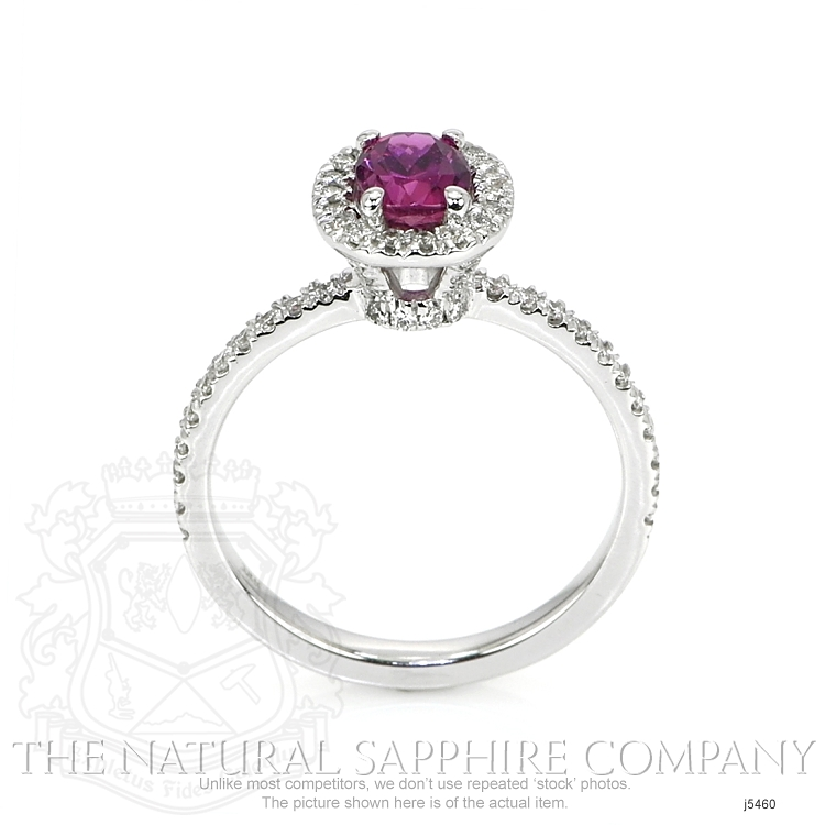 0.95ct Pink Sapphire Ring Image 4
