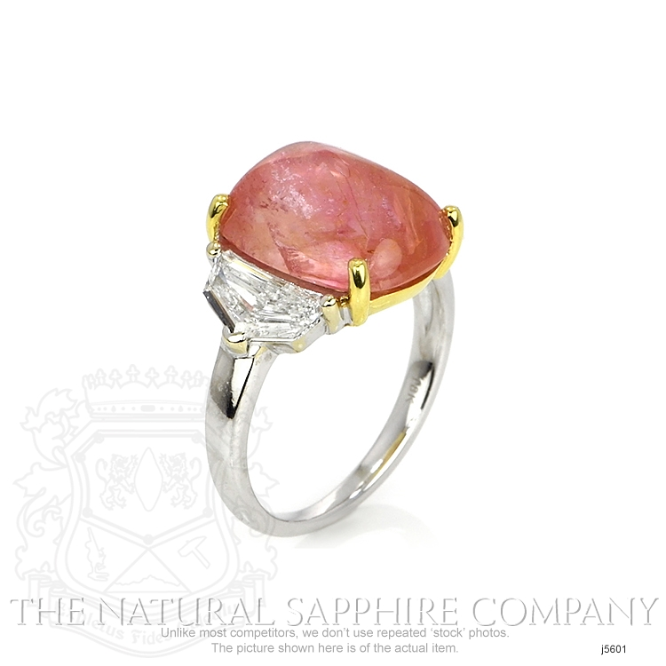 7.60ct Padparadscha Sapphire Ring Image 2