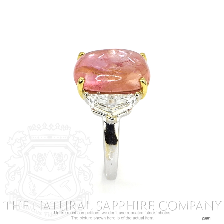 7.60ct Padparadscha Sapphire Ring Image 3