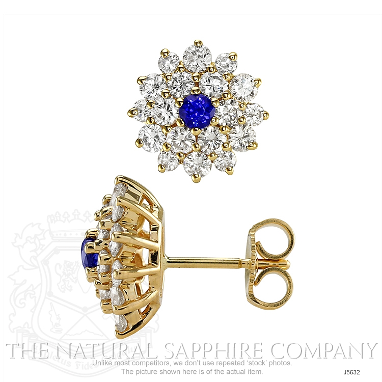 0.36ct Blue Sapphire Earring Image 2