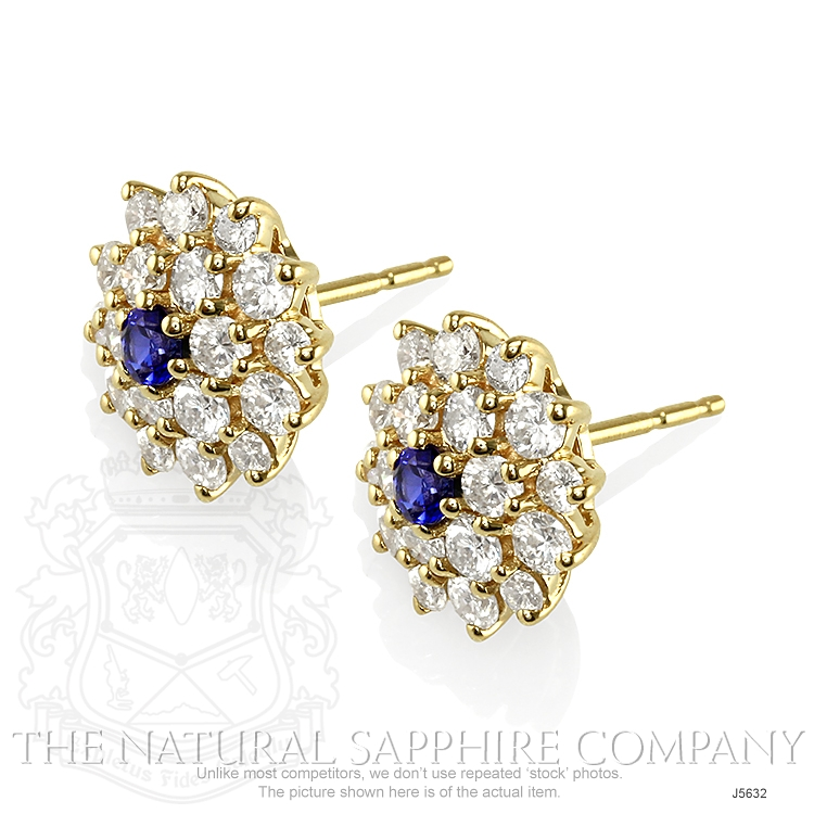 0.36ct Blue Sapphire Earring Image 3