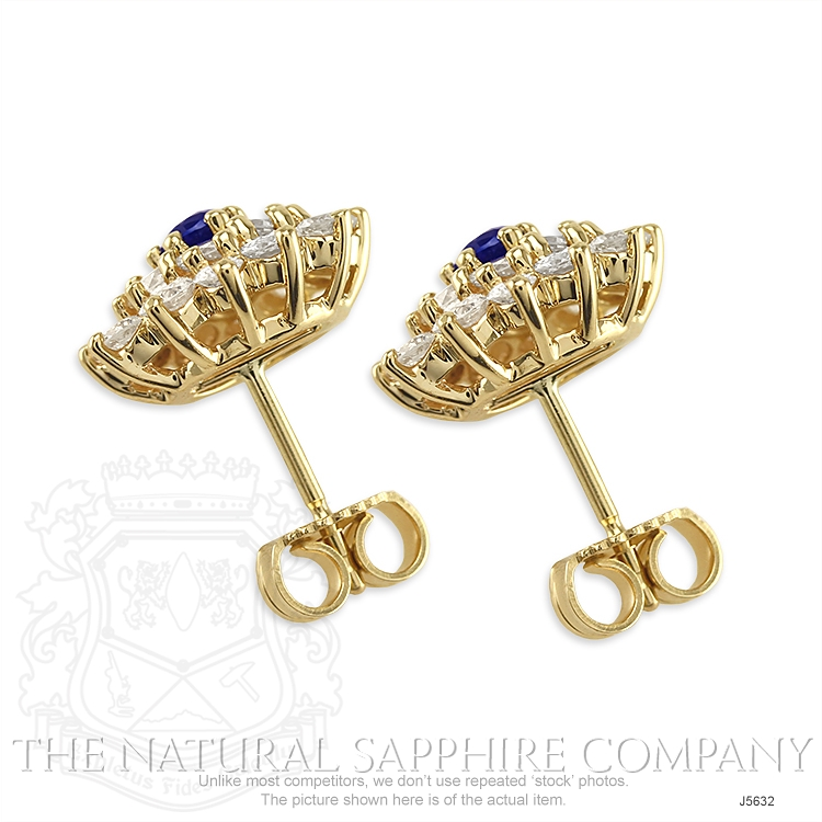 0.36ct Blue Sapphire Earring Image 4