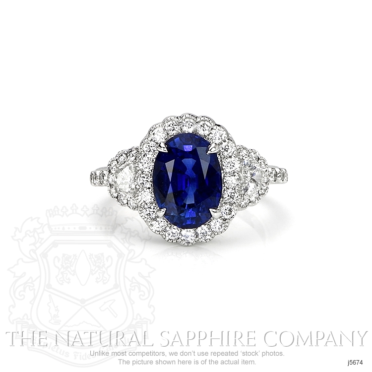 3.28ct Blue Sapphire Ring Image