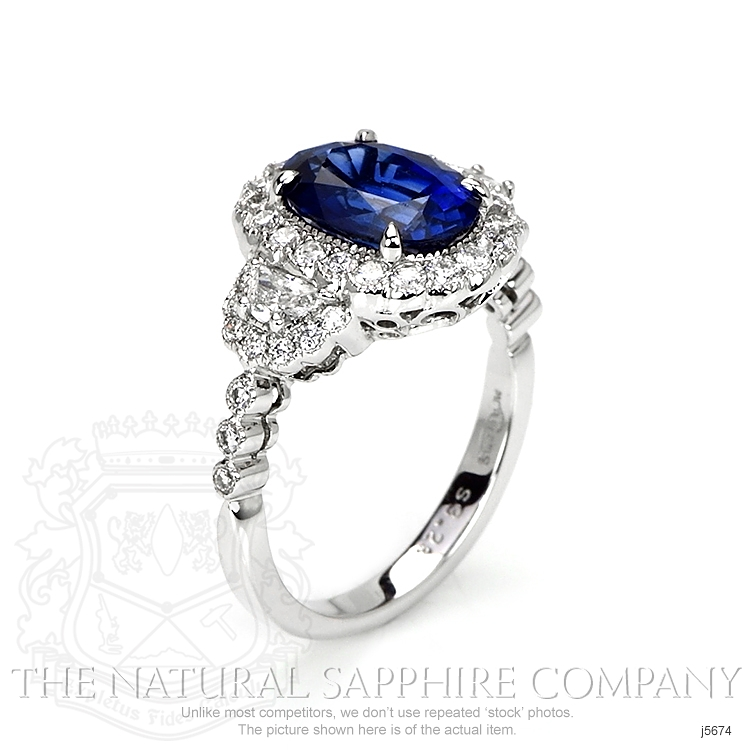 3.28ct Blue Sapphire Ring Image 2