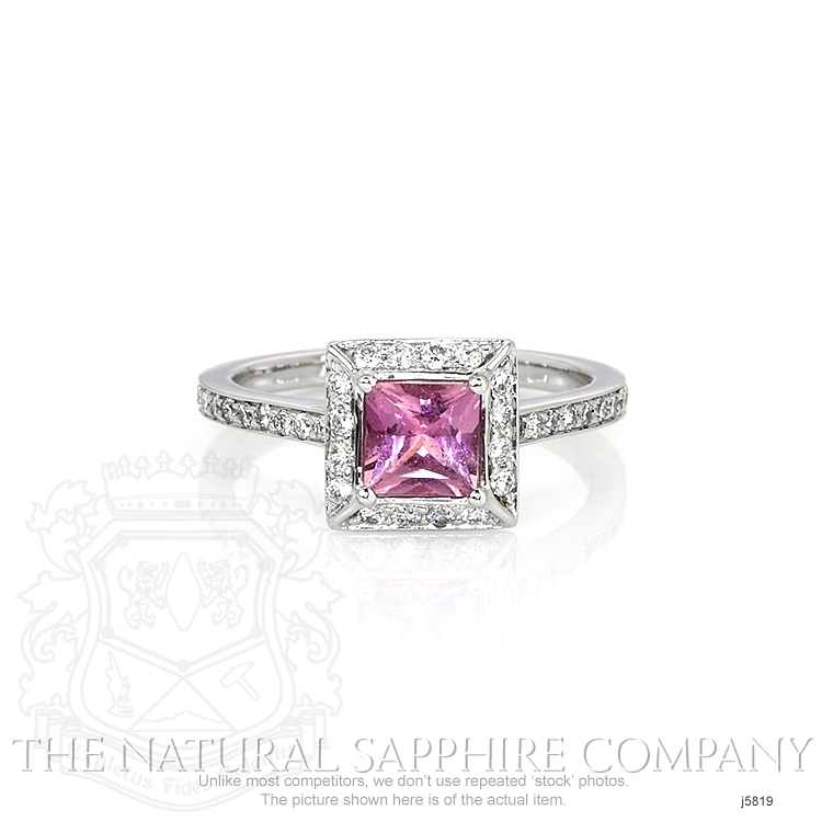 0.66ct Pink Sapphire Ring Image