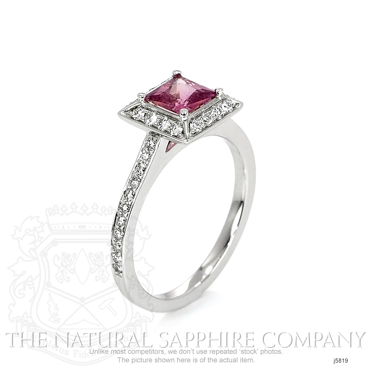 0.66ct Pink Sapphire Ring Image 2