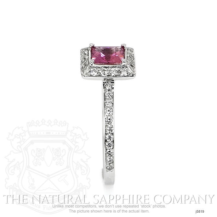 0.66ct Pink Sapphire Ring Image 3