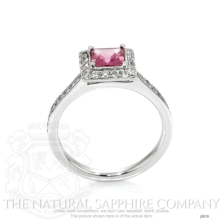 0.66ct Pink Sapphire Ring Image 4