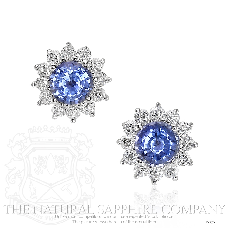 1.05ct Blue Sapphire Earring Image