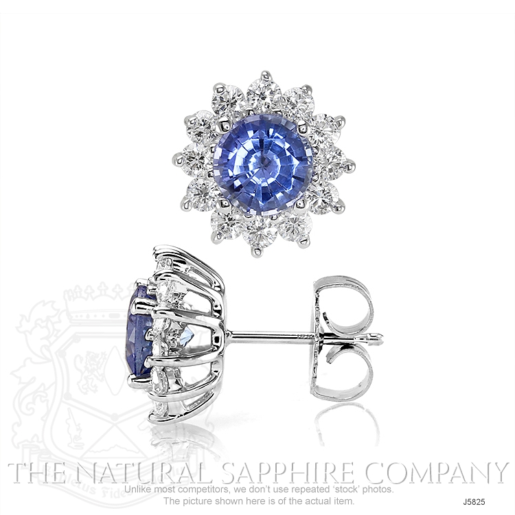 1.05ct Blue Sapphire Earring Image 2