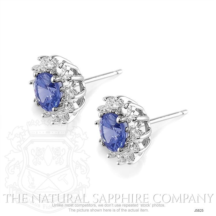 1.05ct Blue Sapphire Earring Image 3