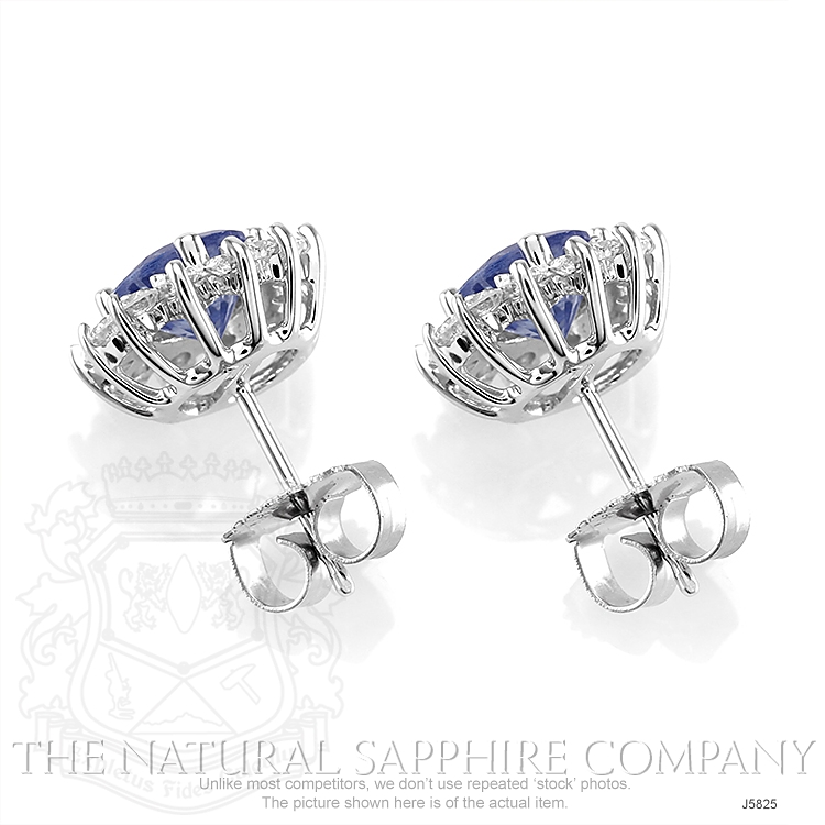 1.05ct Blue Sapphire Earring Image 4