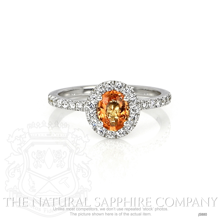 0.64ct Orange Sapphire Ring Image