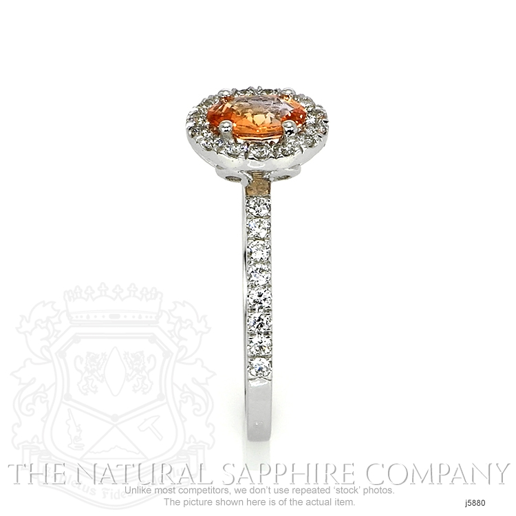 0.64ct Orange Sapphire Ring Image 3