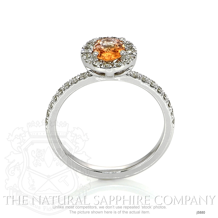 0.64ct Orange Sapphire Ring Image 4