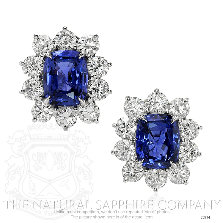 6.11ct Blue Sapphire Earring Image