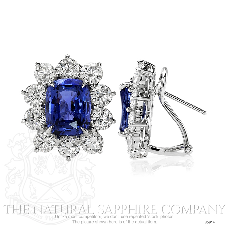 6.11ct Blue Sapphire Earring Image 2