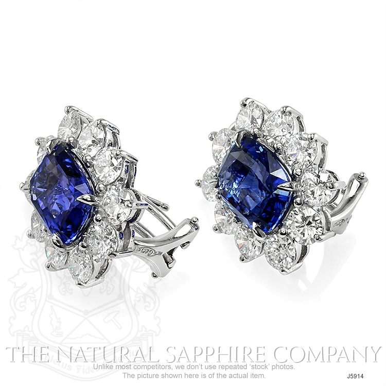 6.11ct Blue Sapphire Earring Image 3