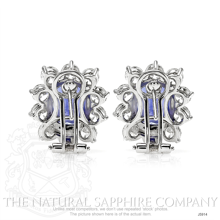 6.11ct Blue Sapphire Earring Image 4