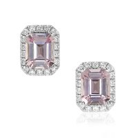 0.81ct Pink Sapphire Earring - J6081