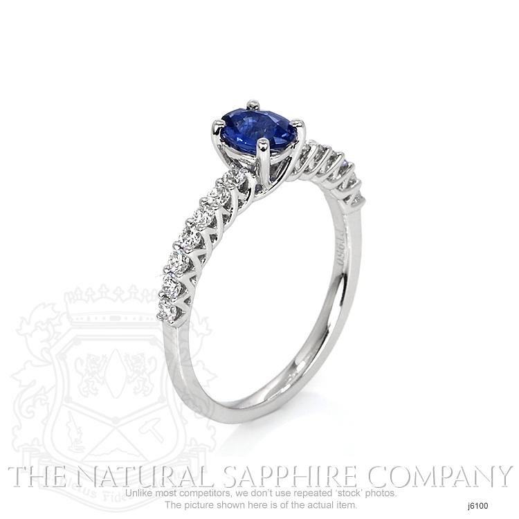 0.57ct Blue Sapphire Ring Image 2