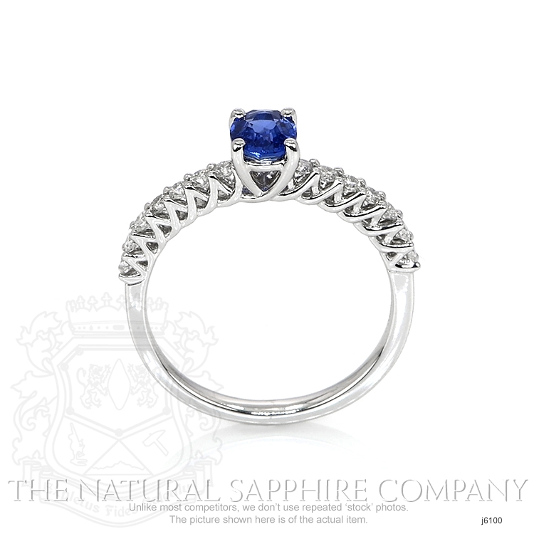 0.57ct Blue Sapphire Ring Image 4