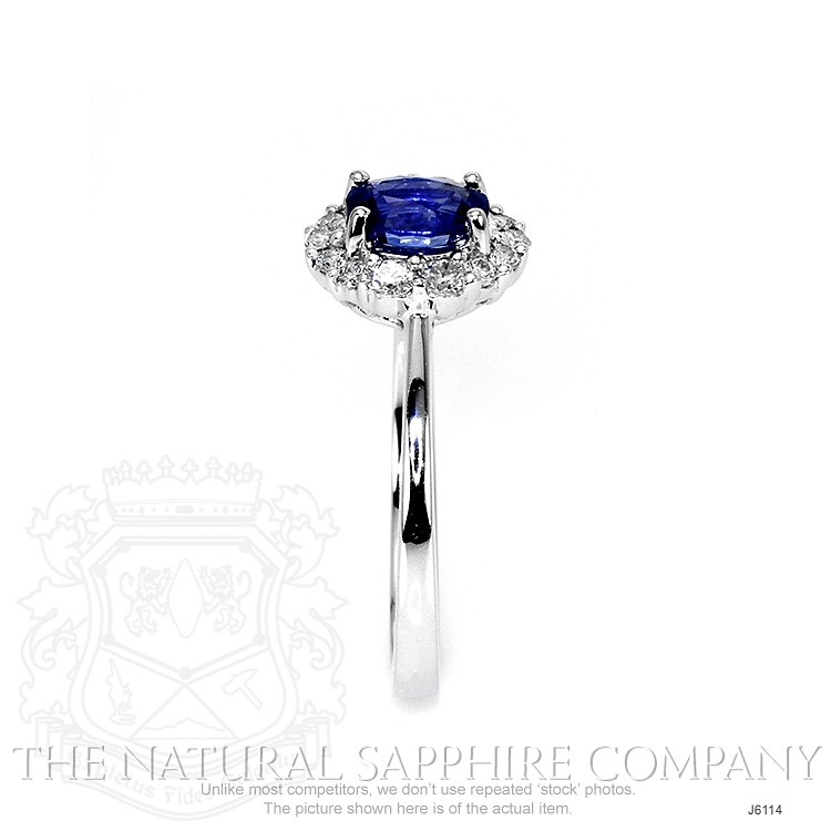 0.72ct Blue Sapphire Ring Image 3