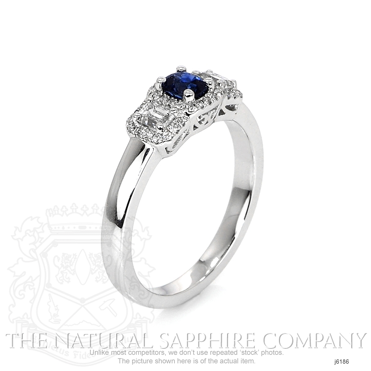 0.41ct Blue Sapphire Ring Image 2