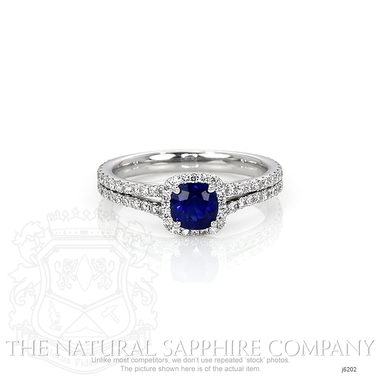 0.64ct Blue Sapphire Ring Image