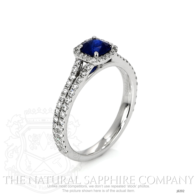0.64ct Blue Sapphire Ring Image 2