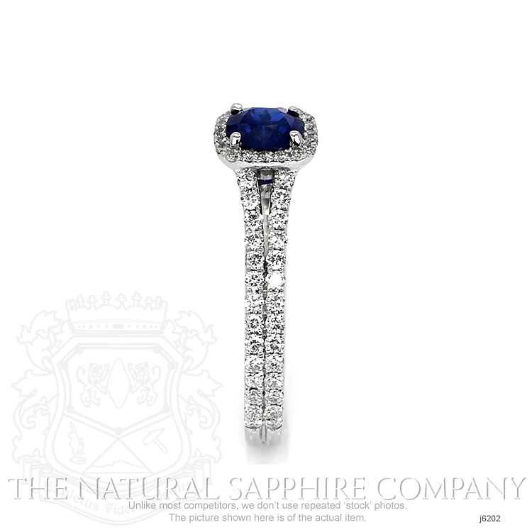 0.64ct Blue Sapphire Ring Image 3