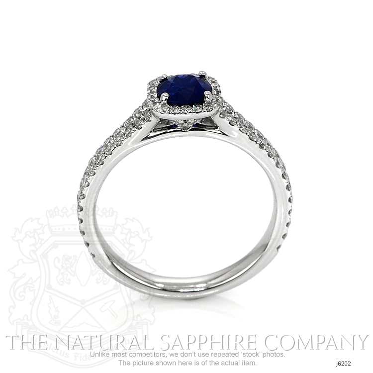 0.64ct Blue Sapphire Ring Image 4