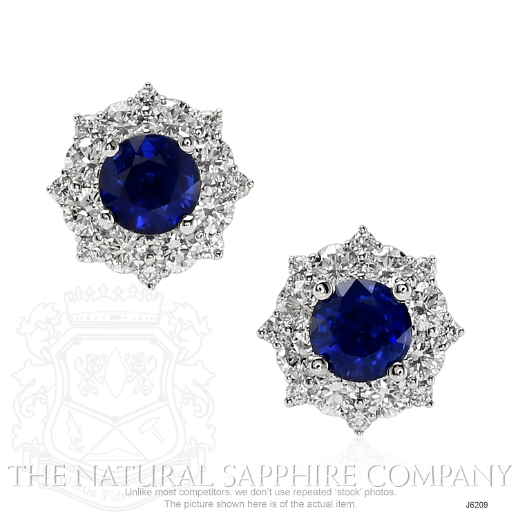0.88ct Blue Sapphire Earring Image