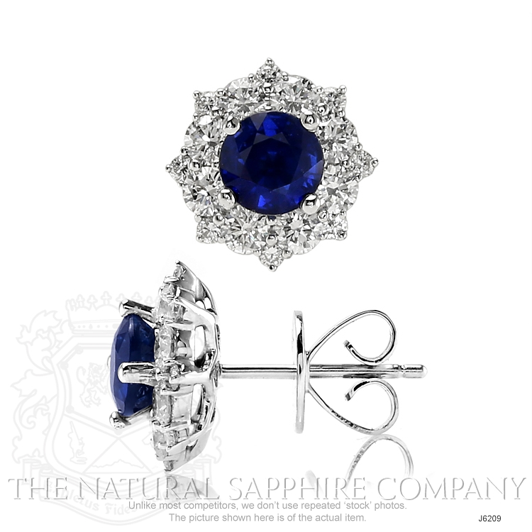 0.88ct Blue Sapphire Earring Image 2