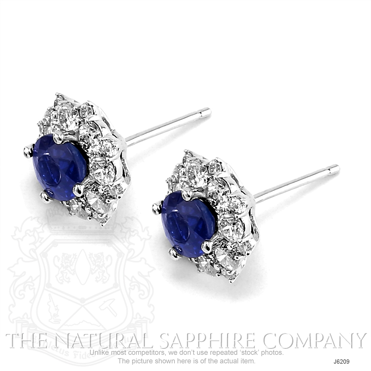 0.88ct Blue Sapphire Earring Image 3