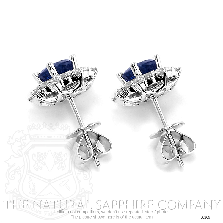 0.88ct Blue Sapphire Earring Image 4