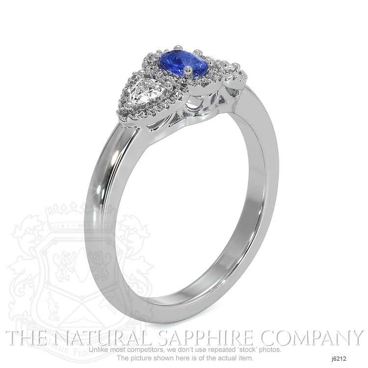 0.24ct Blue Sapphire Ring Image 2