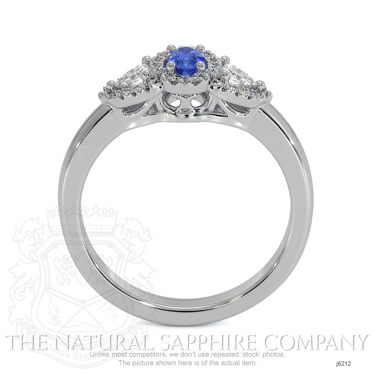 0.24ct Blue Sapphire Ring Image 4